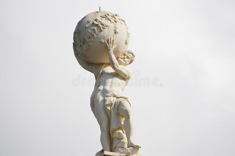 Atlas God Statue stock photo