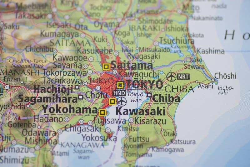 Atlas-Karte Tokyo lizenzfreies stockbild