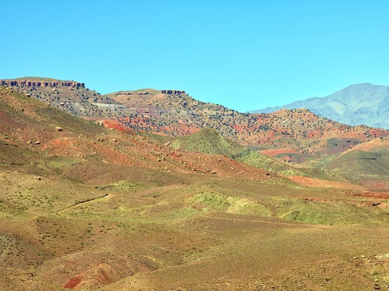 Atlas mountains, Morocco royalty free stock photo