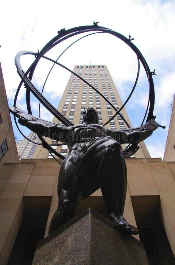 Atlas no centro de Rockefeller fotos de stock