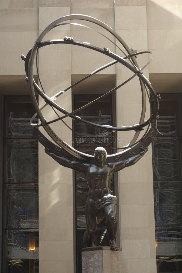 Atlas in Rockefeller-Mitte lizenzfreies stockfoto