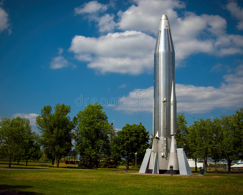 Atlas Rocket da longa distância fotografia de stock royalty free