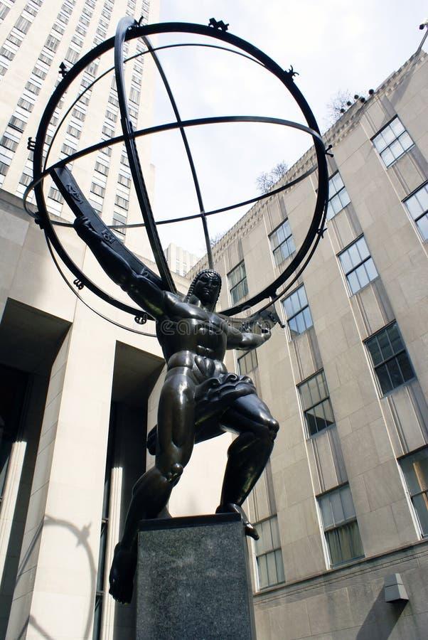 Atlas-Statue stockbild