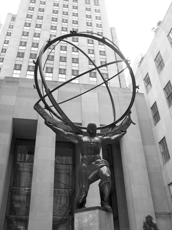 Atlas-Statue lizenzfreie stockbilder
