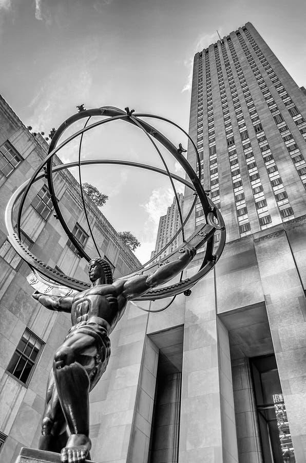 Atlas-Statue, New York stockbilder