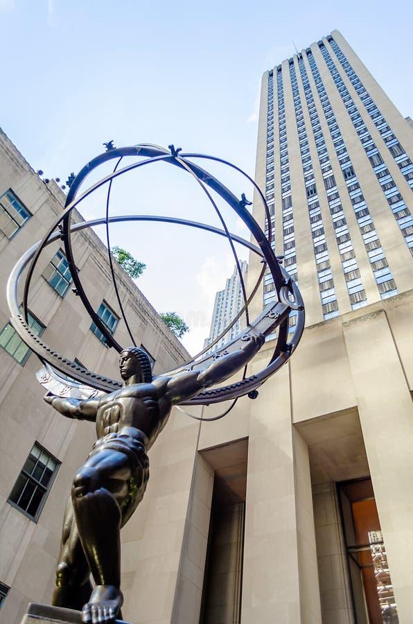 Download Atlas Statue, New York editorial image. Image of sculpture - 32584120