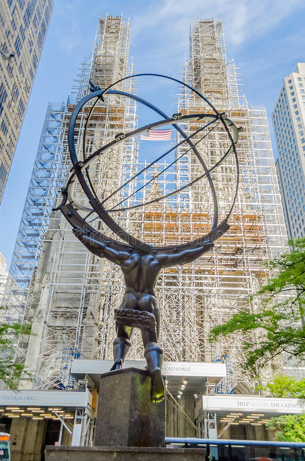 Download Atlas Statue, New York editorial stock image. Image of avenue - 32584169