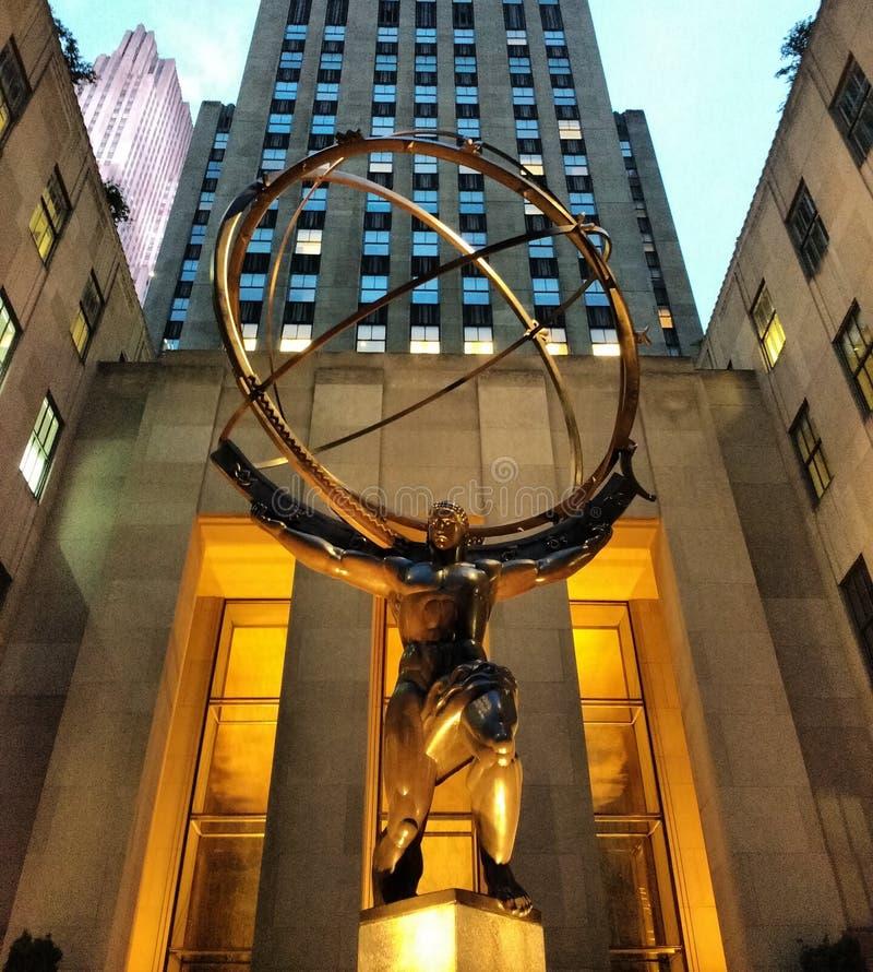 Atlas-Statue, New York City, NY, USA stockbild