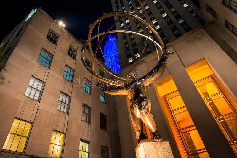 Atlas Statue stock photos