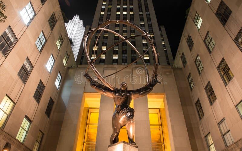 Atlas-Statue Rockefeller-Mitte lizenzfreies stockbild