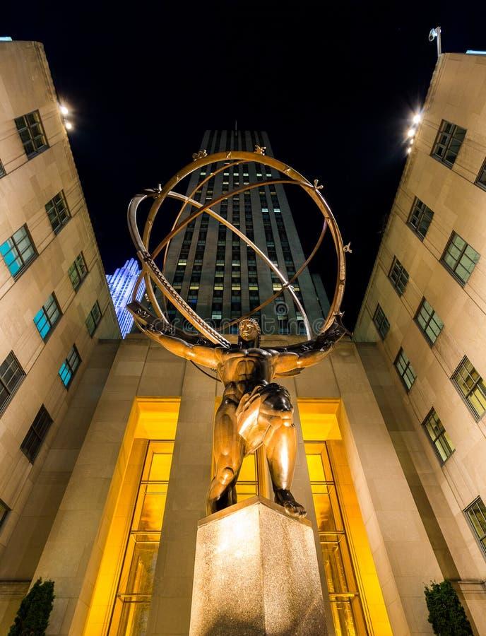 Atlas-Statue Rockefeller-Mitte stockbilder