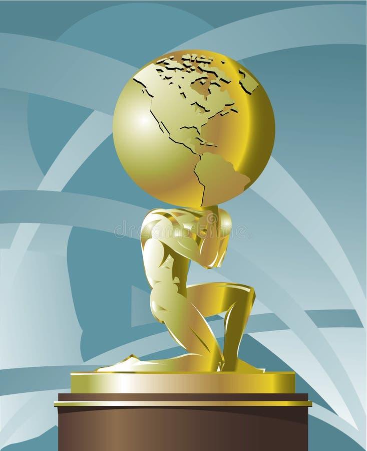 Atlas supportant le monde illustration libre de droits