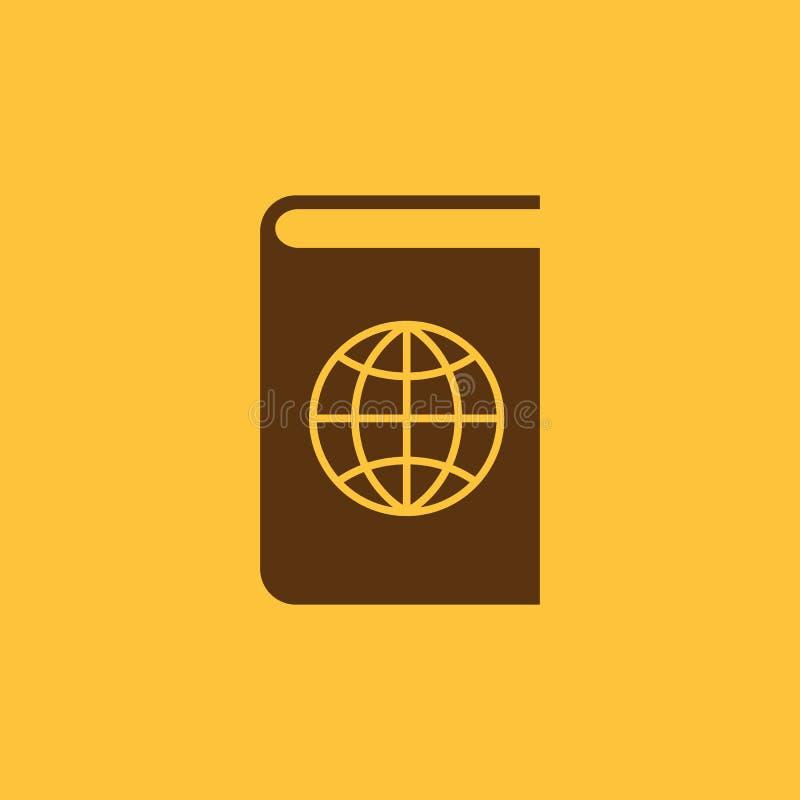 Atlas- und Kugelikone ENV 10 Geografie, Atlassymbol web graphik jpg ai app zeichen nachricht flach bild lizenzfreie abbildung