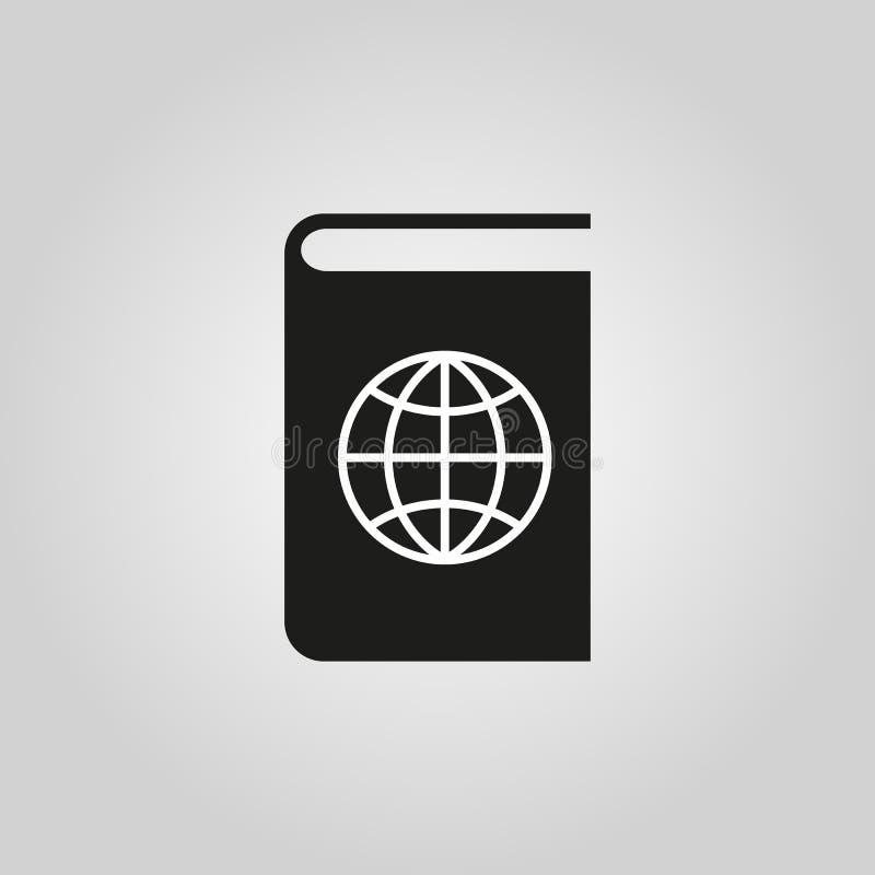 Atlas- und Kugelikone ENV 10 Geografiesymbol web graphik jpg ai app zeichen nachricht flach bild zeichen ENV lizenzfreie abbildung