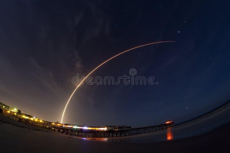 Atlas V rocket launch stock image