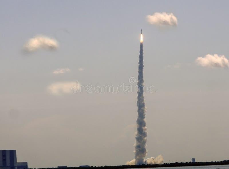 Atlas V Rocket. Lift off of the Atlas V space vehicle royalty free stock image
