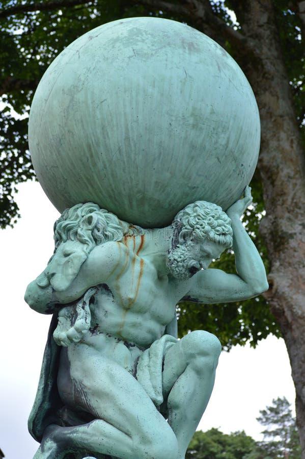 Atlas or Hercules in Wales, UK royalty free stock photo