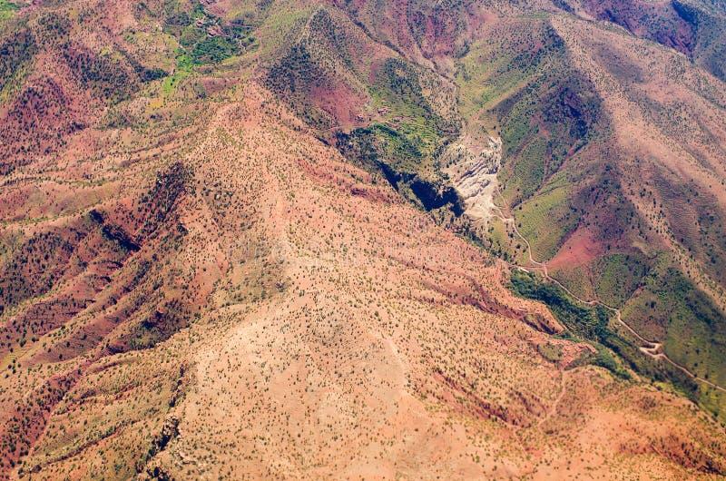 Atlasberge von der Fläche stockbild