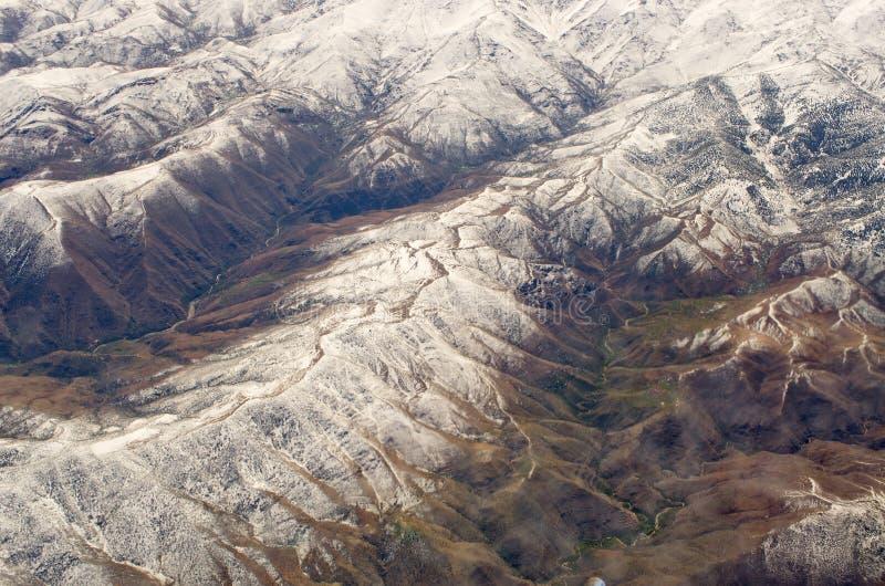 Atlasberge von der Fläche stockfotos