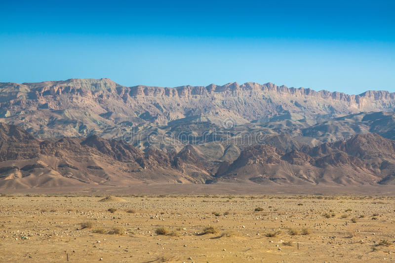 Atlasbergen, Chebika, grens van de Sahara, Tunesië royalty-vrije stock foto's
