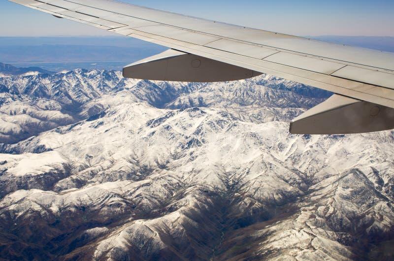 Atlasbergen van het vliegtuig stock foto's