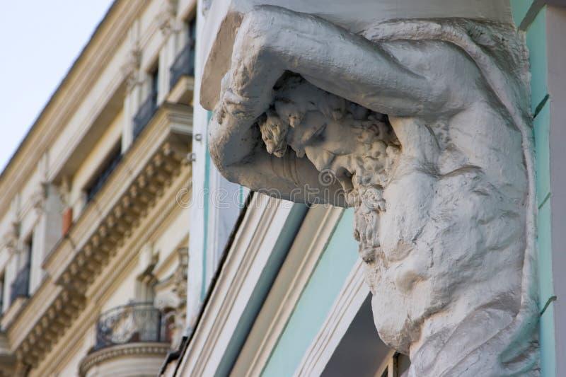 Atlasstandbeeld, architecturaal detail stock foto's