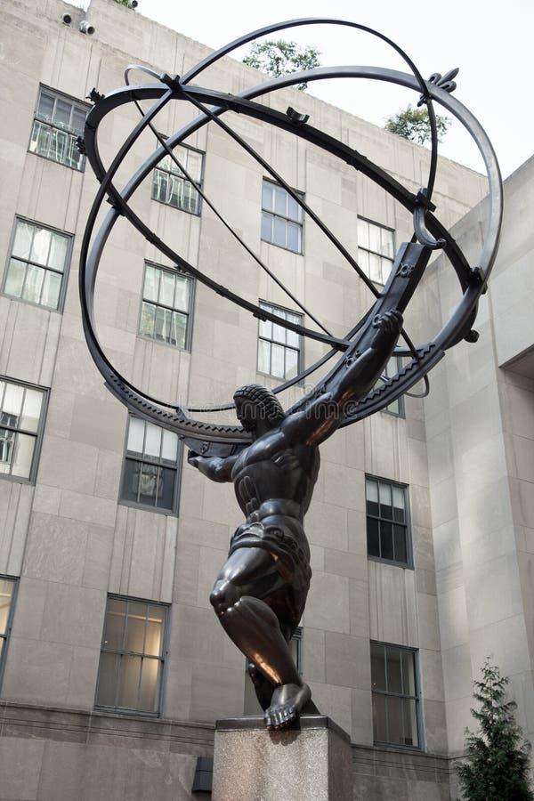 Atlasstatue in Rockefeller-Mitte lizenzfreie stockfotografie