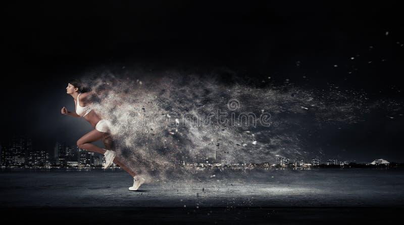 Atleet die snel loopt royalty-vrije stock afbeelding