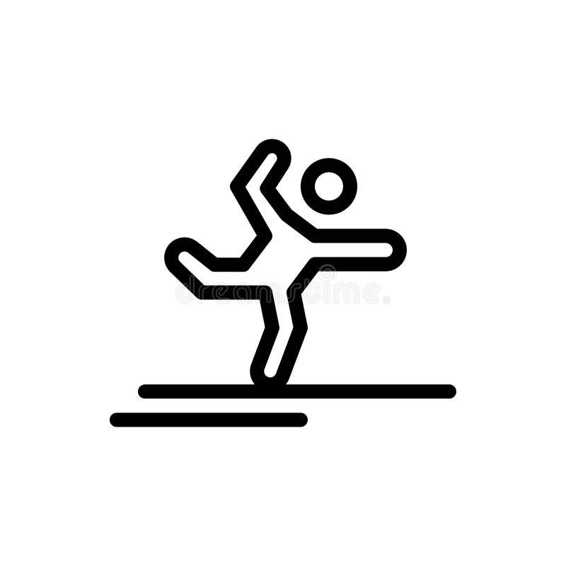 Atleet, Gymnastiek, het Presteren, het Uitrekken zich Blauwe en Rode de Download en koopt nu de Kaartmalplaatje van Webwidget vector illustratie