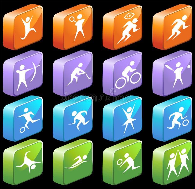 atlet ikony royalty ilustracja