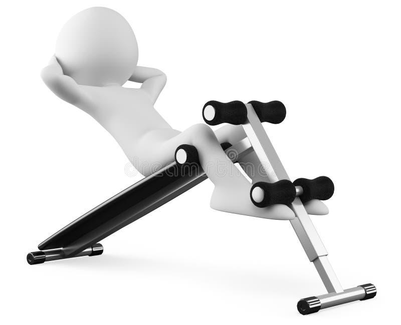 atleta ławka siedzi podnosi ilustracji