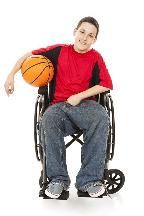 Atleta Adolescente Lisiado Fotografía de archivo libre de regalías