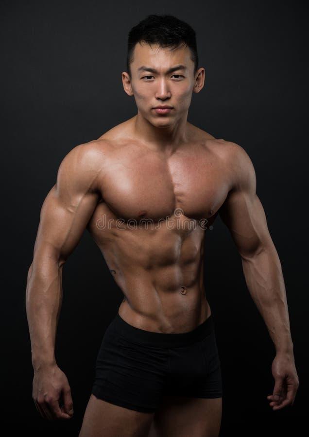 Atleta asiático foto de stock royalty free