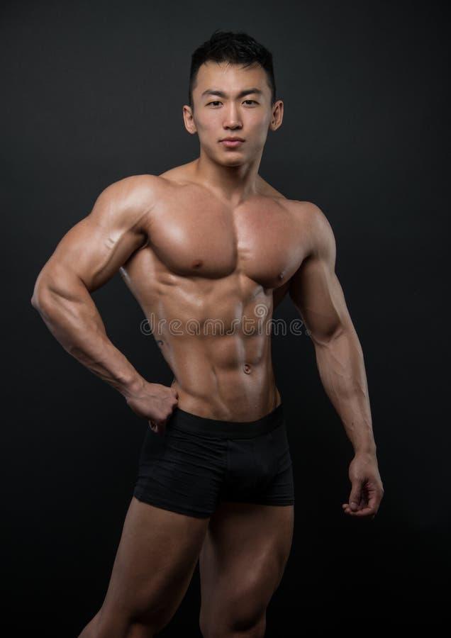 Atleta coreano fotografia stock