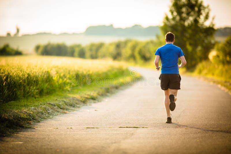 Atleta/corredor masculinos fotos de archivo libres de regalías