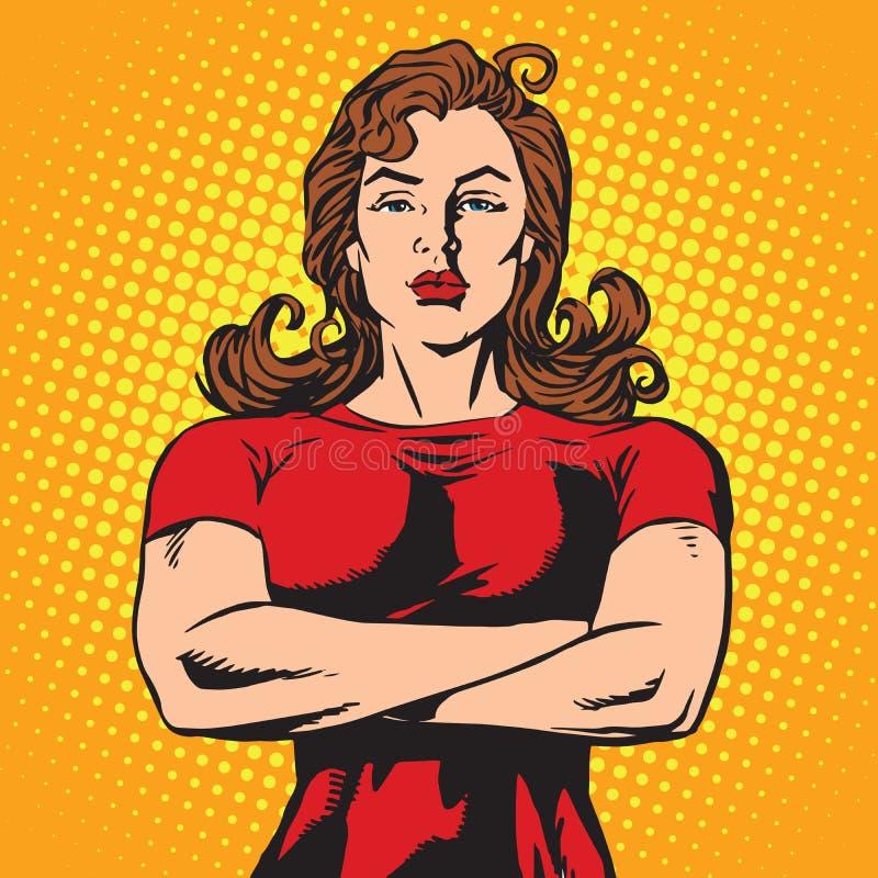 Atleta de sexo femenino fuerte del escolta stock de ilustración