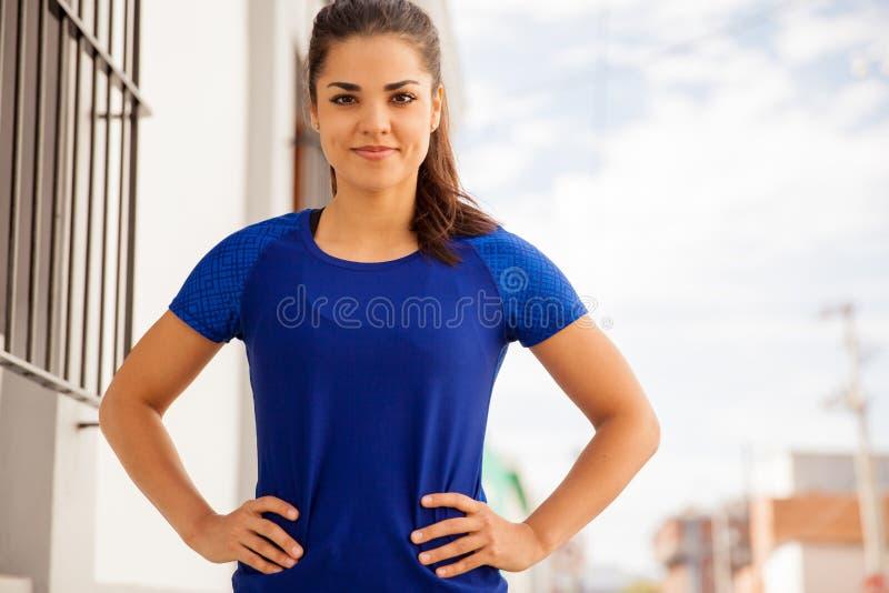 Atleta de sexo femenino hermoso foto de archivo