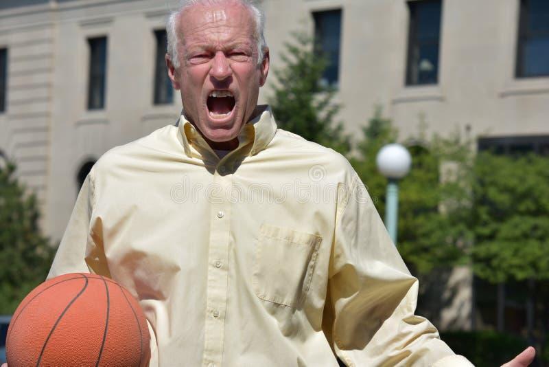 Atleta de sexo masculino enojado foto de archivo libre de regalías