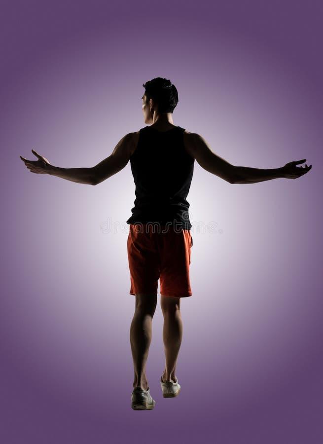 Atleta de sexo masculino joven fotos de archivo