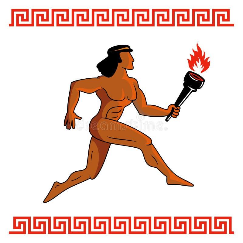 Atleta del griego clásico ilustración del vector