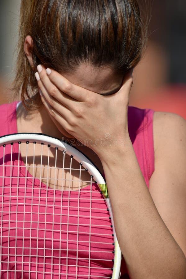 Atleta deprimido Colombian Woman fotos de stock royalty free