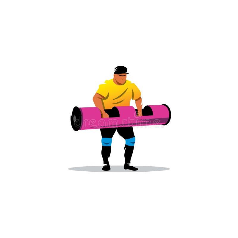 Atleta di sollevamento pesi Illustrazione di vettore royalty illustrazione gratis