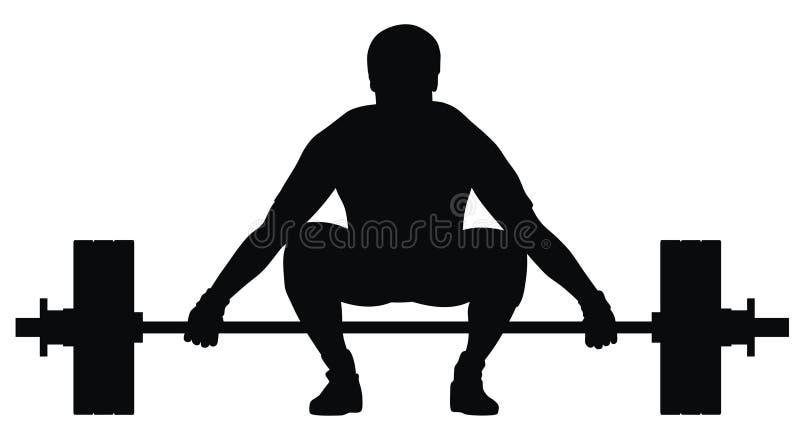 Atleta do tirante de peso ilustração stock