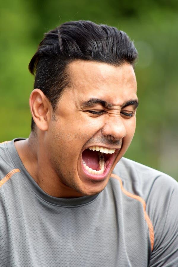 Atleta enojado Person fotografía de archivo