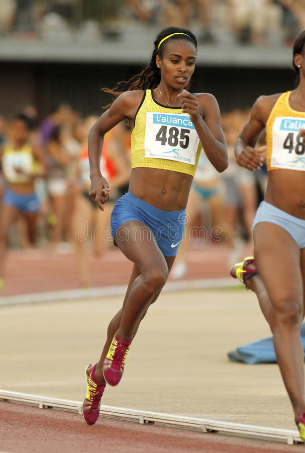 Atleta etíope Genzebe Dibaba foto de archivo libre de regalías