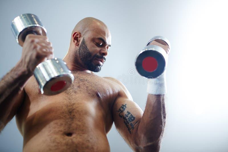 Atleta Exercising fotografie stock