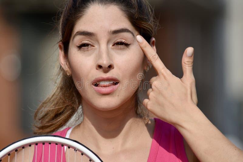 Atleta insano Colombian Girl imagem de stock