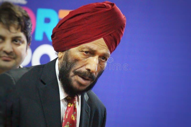 Atleta Milkha Singh imagem de stock royalty free