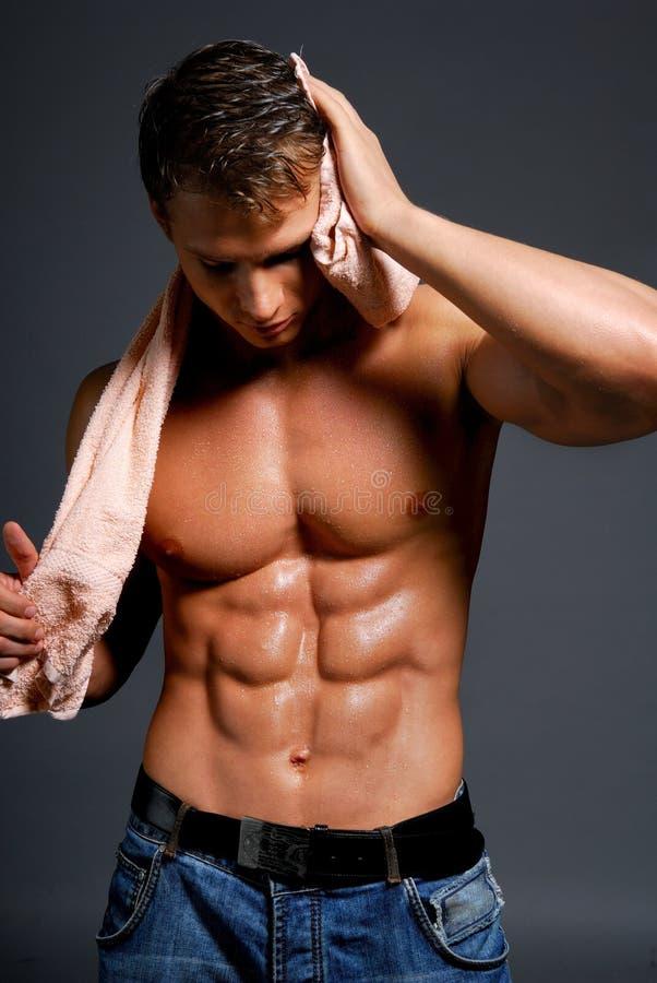 Atleta molhado 'sexy' imagens de stock