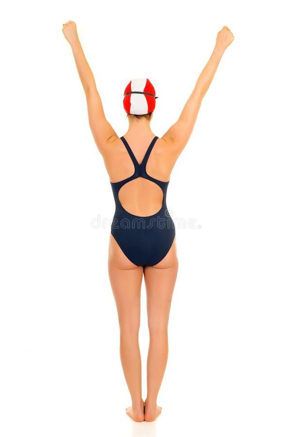 Atleta, nuotatore femminile fotografia stock libera da diritti
